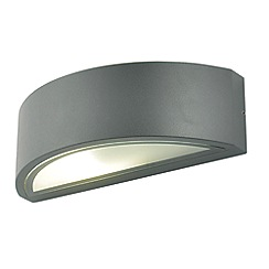 Zinc - Grey metal and glass arch wall light