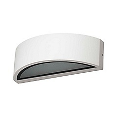 Zinc - White metal and glass arch wall light