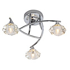 Home Collection - 3 light crystal flush ceiling light