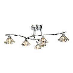Home Collection - 6 light crystal flush ceiling light