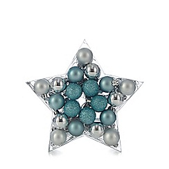 Debenhams - Set of 40 Mini Silver & Blue Baubles