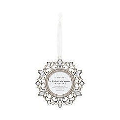 Debenhams - Silver round crystal frame ornament