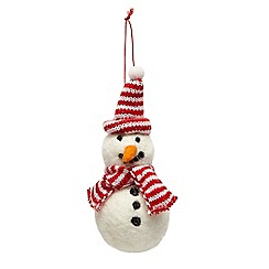 Debenhams - Felt Snowman Hanging Decoration