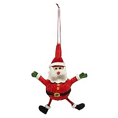 Debenhams - Red felt 'Santa' hanging decoration