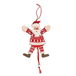 Sass & Belle - String pull Santa Christmas decoration