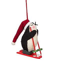 Sass & Belle - Skiing penguin Christmas decoration