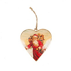Sass & Belle - Santa heart Christmas decoration