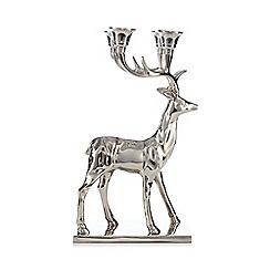 Debenhams - Silver 3D stag candelabra