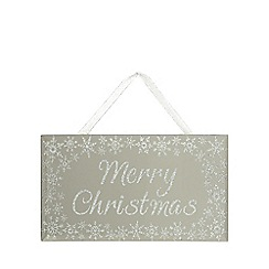 Debenhams - Silver 'Merry Christmas' mirror sign
