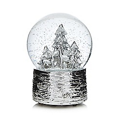 Debenhams - Silver musical Christmas snow globe