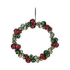 Debenhams - Multi-coloured bells wreath