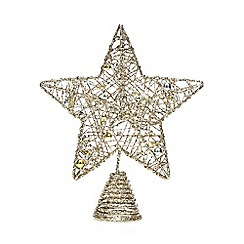 Debenhams - Gold Glitter Star Tree Topper