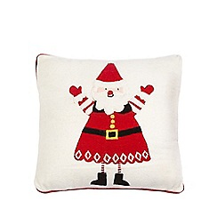 Debenhams - Off white Santa applique cushion