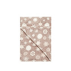 Debenhams - Grey snowflake fleece blanket throw