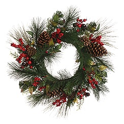 Festive - Green pinecone and berry wreath