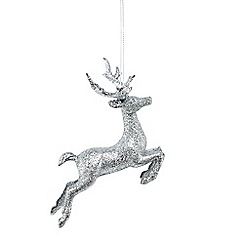Debenhams - Set of 2 glitter reindeer decorations