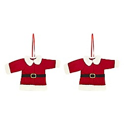 Debenhams - Set of two red Santa jacket tree decorations