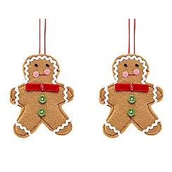 Debenhams - Set of 2 gingerbread hanging decorations