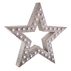 Heaven Sends - Wooden Star Decoration