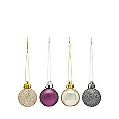 Home Collection - Pack of 40 assorted glitter and plain Christmas baubles