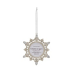 Home Collection - Silver metal snowflake photo frame Christmas decoration