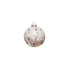 Gisela Graham - Embellished Christmas tree bauble