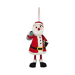 Home Collection - Multi-coloured wool Santa Christmas decoration