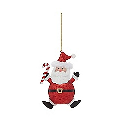 Home Collection - Red glitter Santa Claus Christmas decoration