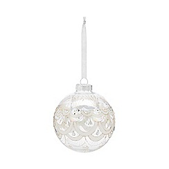 Home Collection - Iridescent glass art deco large Christmas bauble