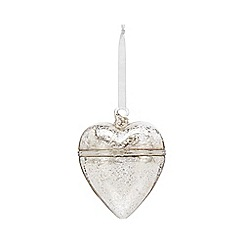 Home Collection - Silver heart trinket Christmas decoration
