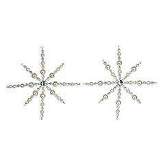 Gisela Graham - Pack of 2 beaded star Christmas tree decoration