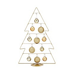 Home Collection - Gold bauble tree Christmas decoration