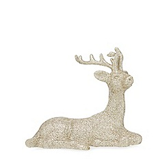 Home Collection - Gold sitting reindeer Christmas decoration