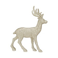 Home Collection - Gold standing reindeer Christmas decoration