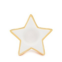 Home Collection - Pack of two multi-coloured star Christmas tea light holders