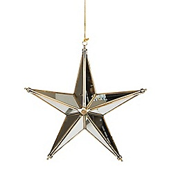 Sass & Belle - Large glass star Christmas hanging