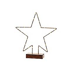 Festive - Multi-coloured LED light star Christmas ornament
