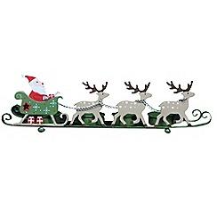 Gisela Graham - Multi-coloured Santa sleigh Christmas night light figurine