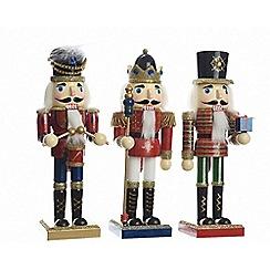 Kaemingk - Multi-coloured firewood nutcracker Christmas figurine