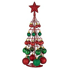 Home Collection - Red and green bauble tree Christmas decoration