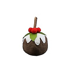 Gisela Graham - Multi-coloured Christmas pudding door stop