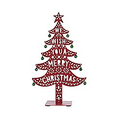 Home Collection - Red 'Merry Christmas' tree Christmas decoration
