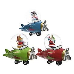 Kaemingk - Multi-coloured Santa in helicopter ornament