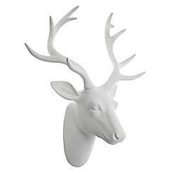 Heaven Sends - White resin reindeer head
