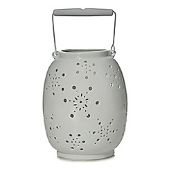 Home Collection - Large white metal lantern