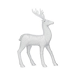 Home Collection - Silver standing reindeer Christmas decoration