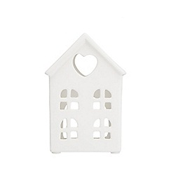 Home Collection - White house tea light holder Christmas decoration