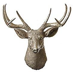 Heaven Sends - Gold resin reindeer head