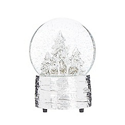 Home Collection - Silver musical reindeer snow globe