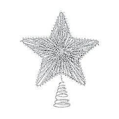 Home Collection - Silver glitter tree topper in a craft box